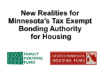 New Realities for Minnesota's Tax Exempt Bonding Authority for Housing